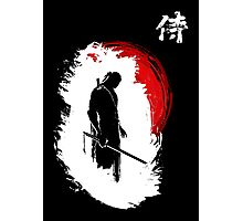 Lone Samurai (white) Photographic Print