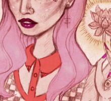 Lotus Girl Sticker