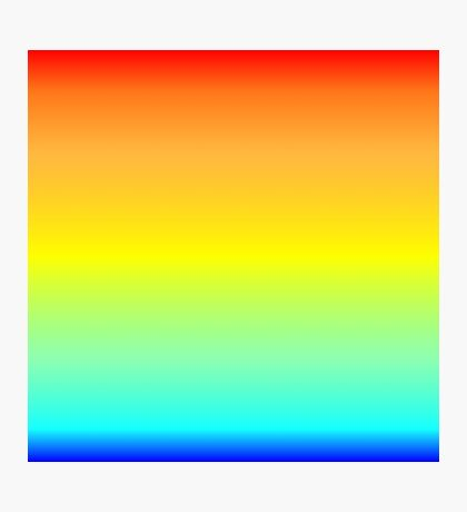 Color Gradient - Blue | Cyan | Yellow | Orange | Red Photographic Print