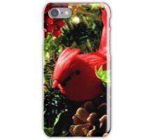 Red Bird Christmas DPGF121225b  iPhone Case/Skin