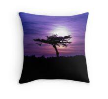 Sunset behind a tree Throw Pillow