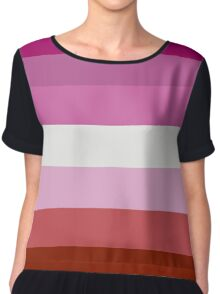 Lesbian Pride Flag Chiffon Top