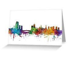 Leeds England Skyline Greeting Card