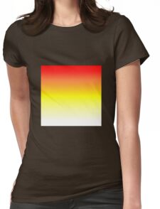 Color Gradient - White | Yellow | Red Womens Fitted T-Shirt