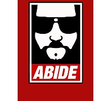 Jeff the big Lebowski abide obey poster Shepard Fairey parody Photographic Print