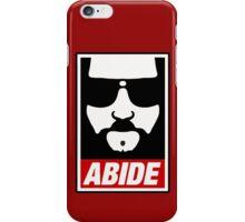 Jeff the big Lebowski abide obey poster Shepard Fairey parody iPhone Case/Skin
