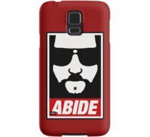 Jeff the big Lebowski abide obey poster Shepard Fairey parody Samsung Galaxy Case/Skin