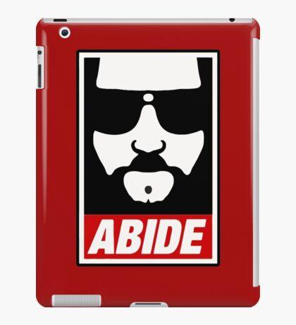 Jeff the big Lebowski abide obey poster Shepard Fairey parody iPad Case/Skin