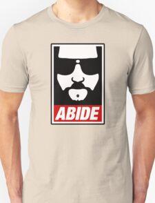 Jeff the big Lebowski abide obey poster Shepard Fairey parody T-Shirt