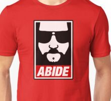 Jeff the big Lebowski abide obey poster Shepard Fairey parody Unisex T-Shirt
