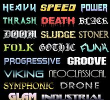 The Genres of Metal by Luke Kegley