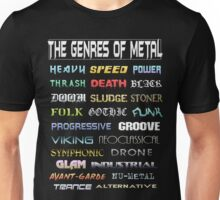 The Genres of Metal Unisex T-Shirt