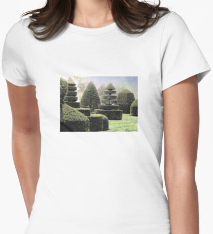 Dawn In A Topiary Garden Womens Fitted T-Shirt
