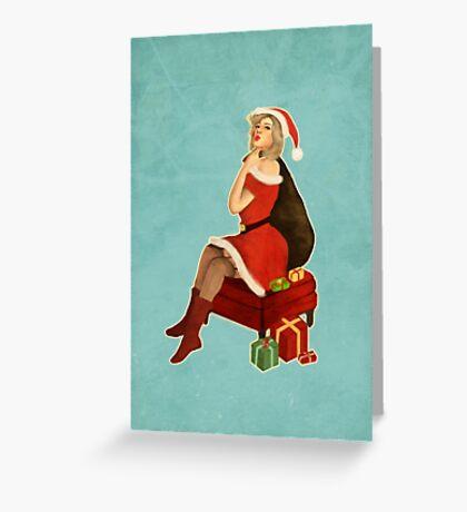 Christmas Pin Up  Greeting Card