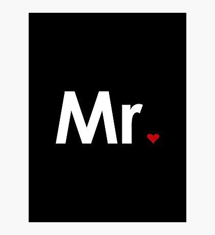 Couple - Mister Heart (Dark edition) Photographic Print