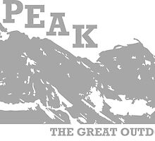 East Peak Apparel - Mountain Print - T-Shirts by springwoodbooks