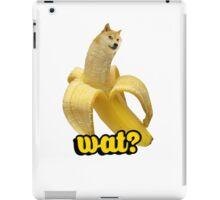 Doge banana dog shibe shiba inus wat? iPad Case/Skin