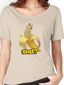 Doge banana dog shibe shiba inus wat? Women's Relaxed Fit T-Shirt