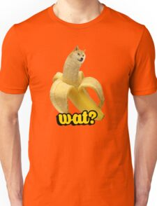 Doge banana dog shibe shiba inus wat? Unisex T-Shirt