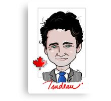 Justin Trudeau - Canadian Prime Minister Canvas Print