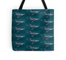 Blue Shark Tile Tote Bag