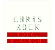 chris rock tour 2016-2017-total blackout Art Print
