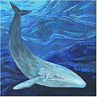 Blue whale painting - 2012 by Gwenn Seemel