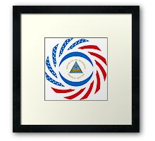 Nicaraguan American Multinational Patriot Flag Series Framed Print
