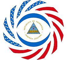 Nicaraguan American Multinational Patriot Flag Series Photographic Print