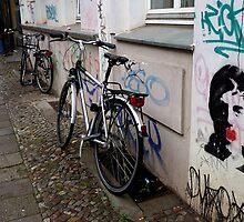 Bikes in a Berlin's street by dyanera