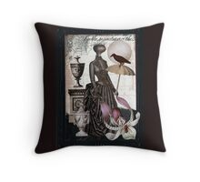 Carnivorous Orchid Throw Pillow