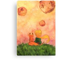 The Little Prince and Fox Canvas Print
