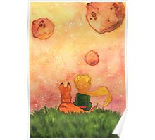 The Little Prince and Fox Poster