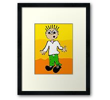 Justin in the sunset Framed Print