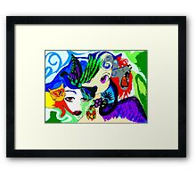 TWINS BY ART AND SOUL MAMMA Framed Print