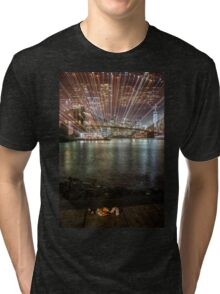 City Warp and Shoes Tri-blend T-Shirt