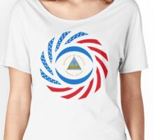 Nicaraguan American Multinational Patriot Flag Series Women's Relaxed Fit T-Shirt