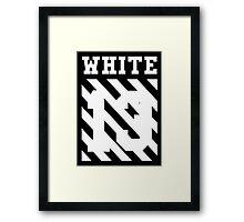 Off-White 13 (Black) Framed Print