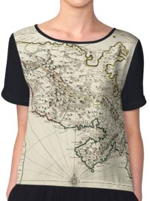 Map Of Martinique 1730 Chiffon Top