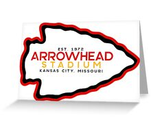 Arrowhead Stadium Greeting Card