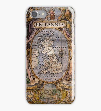 Map Of Britain 1607 iPhone Case/Skin