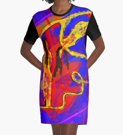 Primary Figure Model Graphic T-Shirt Dress