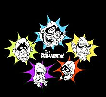 Aquabats! Awesome Forces! White Text! by Sara Peck