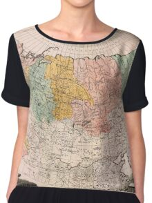 Map Of Russia 1734 Chiffon Top
