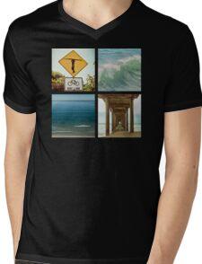 Surfer Girl Paradise Mens V-Neck T-Shirt