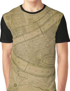 Map Of Pittsburgh 1830 Graphic T-Shirt