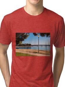 Lamp Post on Bay Tri-blend T-Shirt