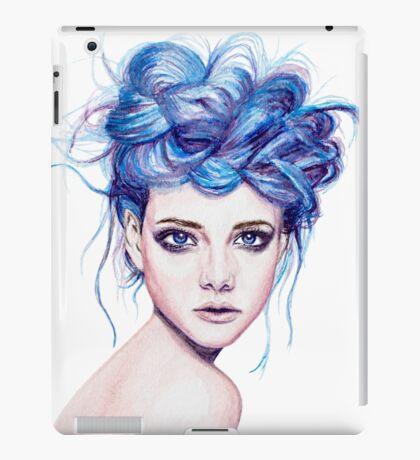 Blue Haired Girl iPad Case/Skin