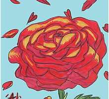 Rose Aside Falling Petals by FoxfireDesigns