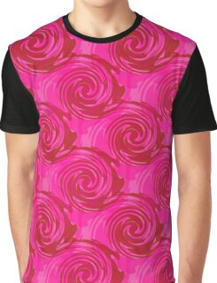 Abstract pattern in bright crimson tone.  Graphic T-Shirt